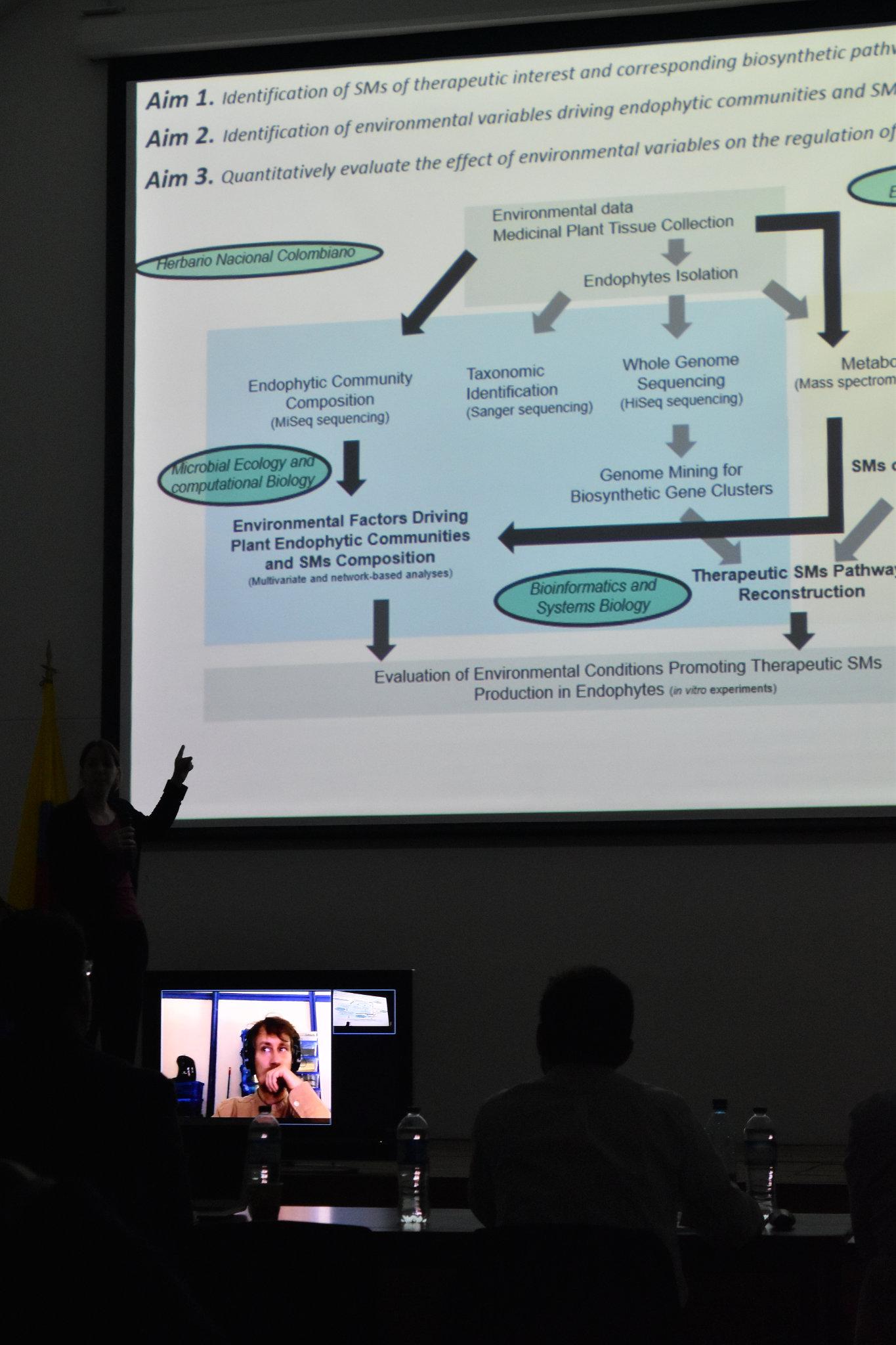 Émilie Lefèvre (Foto: Laura Berrío / Vicerrectoría de Investigación (VRI) - Universidad Nacional de Colombia)