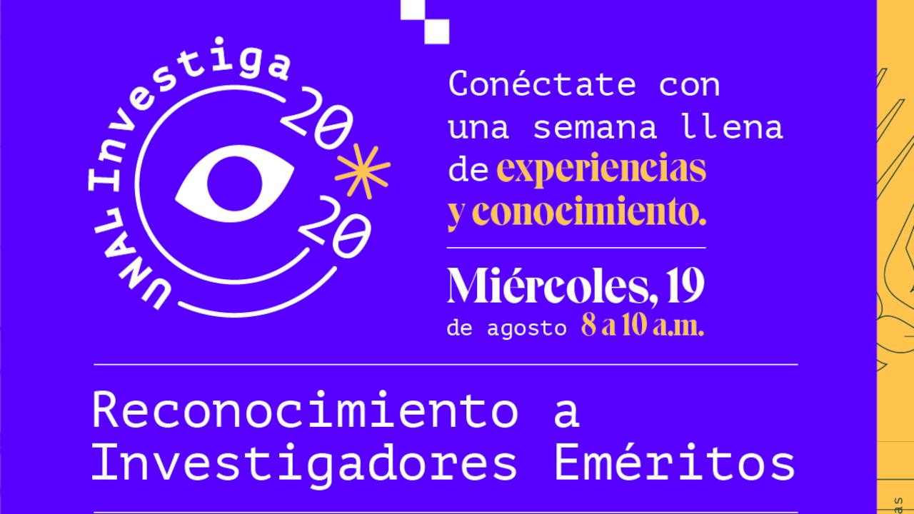 19 agosto 2020 / reconocimiento a                       investigadores eméritos (parte 2)