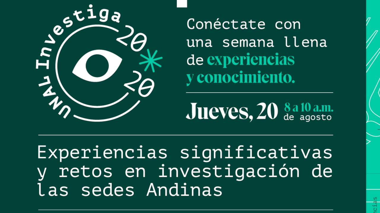 20 agosto 2020 / retos investigación sedes                       andinas