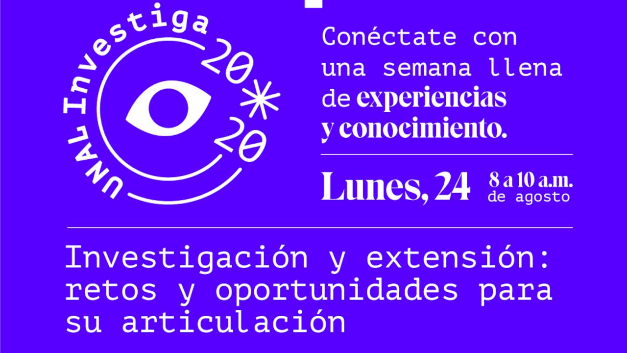 24 ago. 2020 / Investigación y extensión:                       retos y oportunidades para su articulación